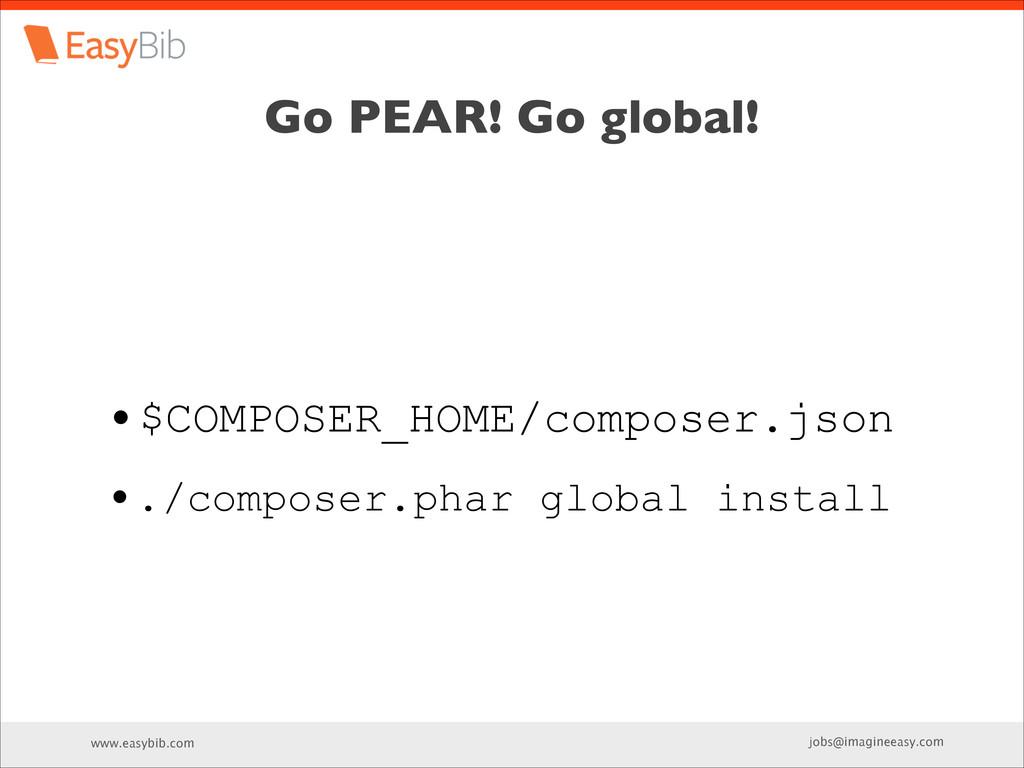 www.easybib.com jobs@imagineeasy.com Go PEAR! G...