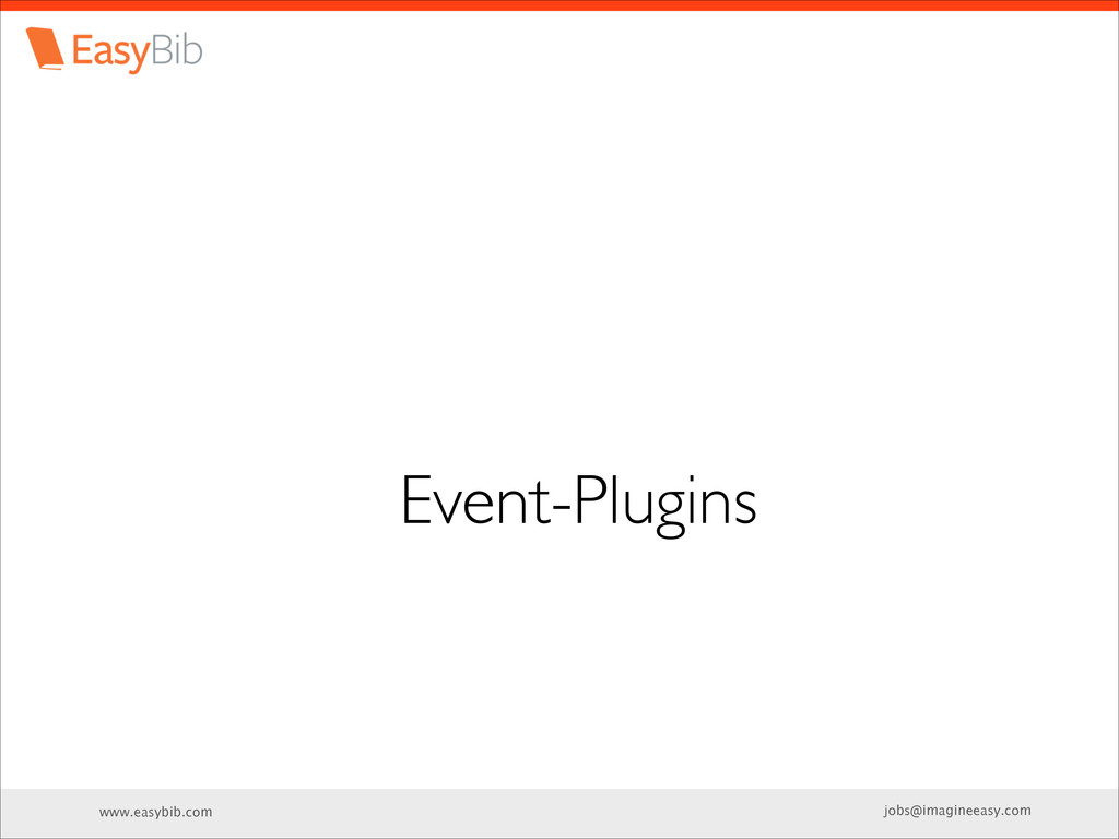 www.easybib.com jobs@imagineeasy.com Event-Plug...