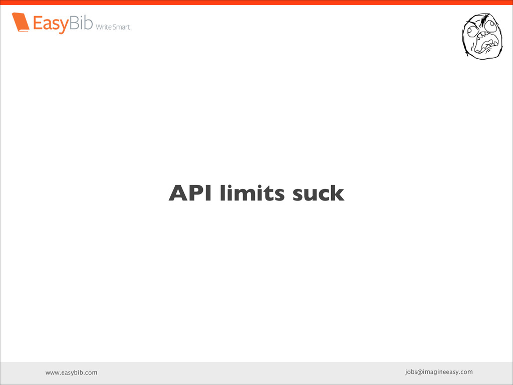 www.easybib.com jobs@imagineeasy.com API limits...