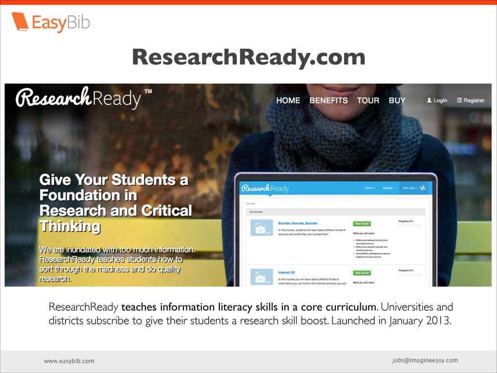 www.easybib.com jobs@imagineeasy.com ResearchRe...