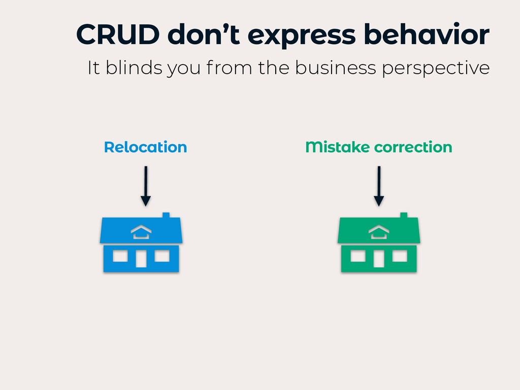 CRUD don't express behavior It blinds you from ...