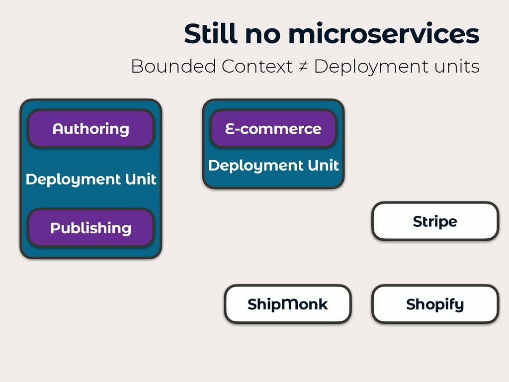 Deployment Unit Stripe Still no microservices B...