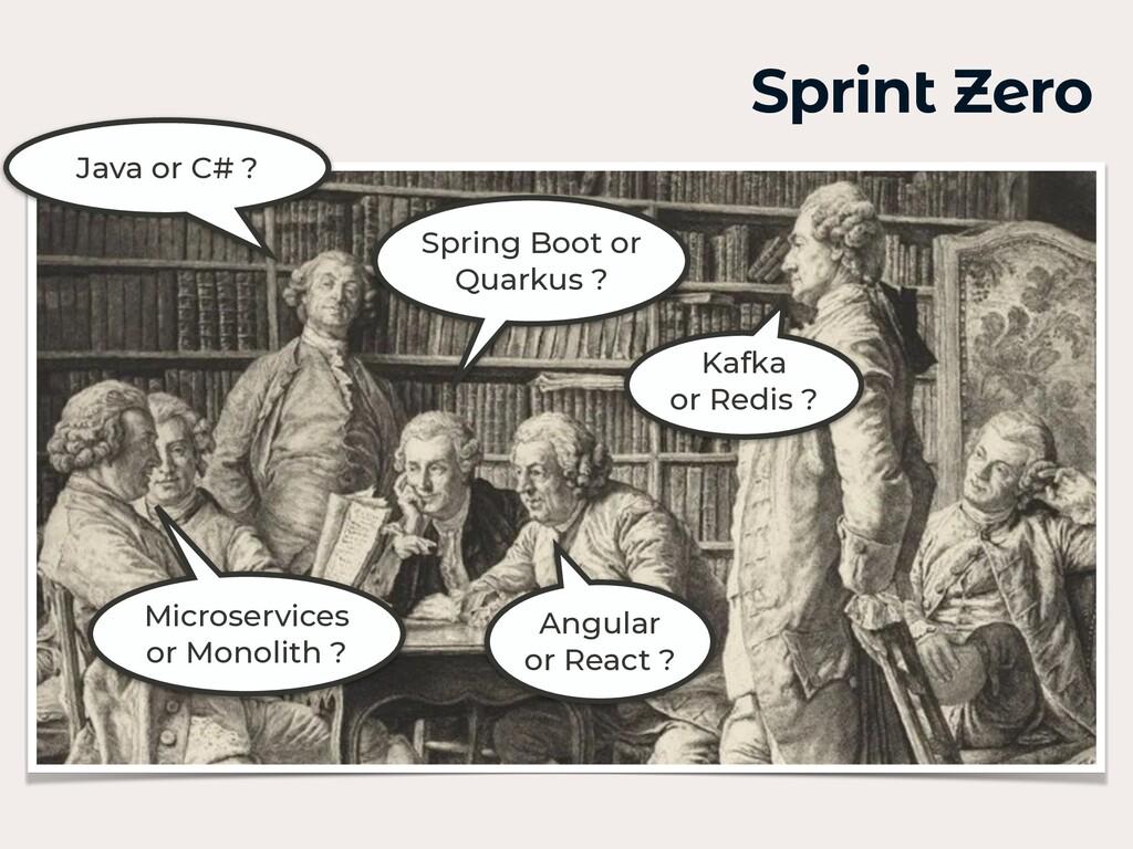 Sprint Zero Java or C# ? Spring Boot or Quarkus...