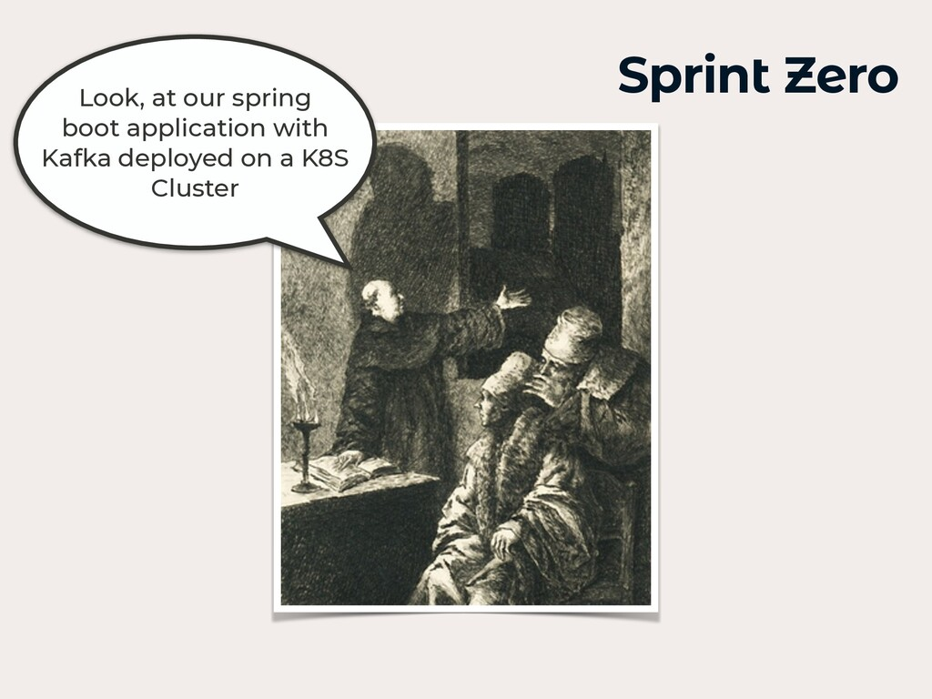 Look, at our spring boot application with Kafka...
