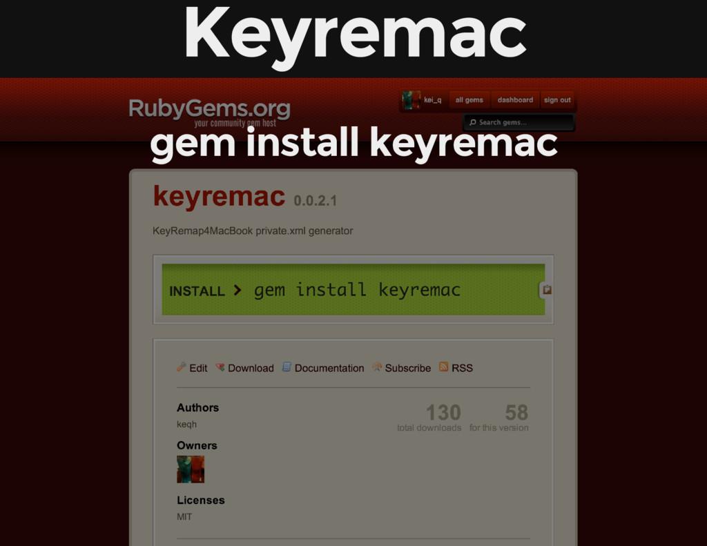 Keyremac gem install keyremac