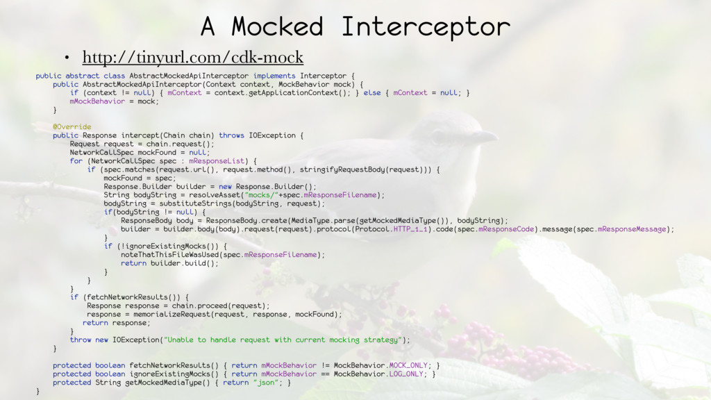 A Mocked Interceptor • http://tinyurl.com/cdk-m...