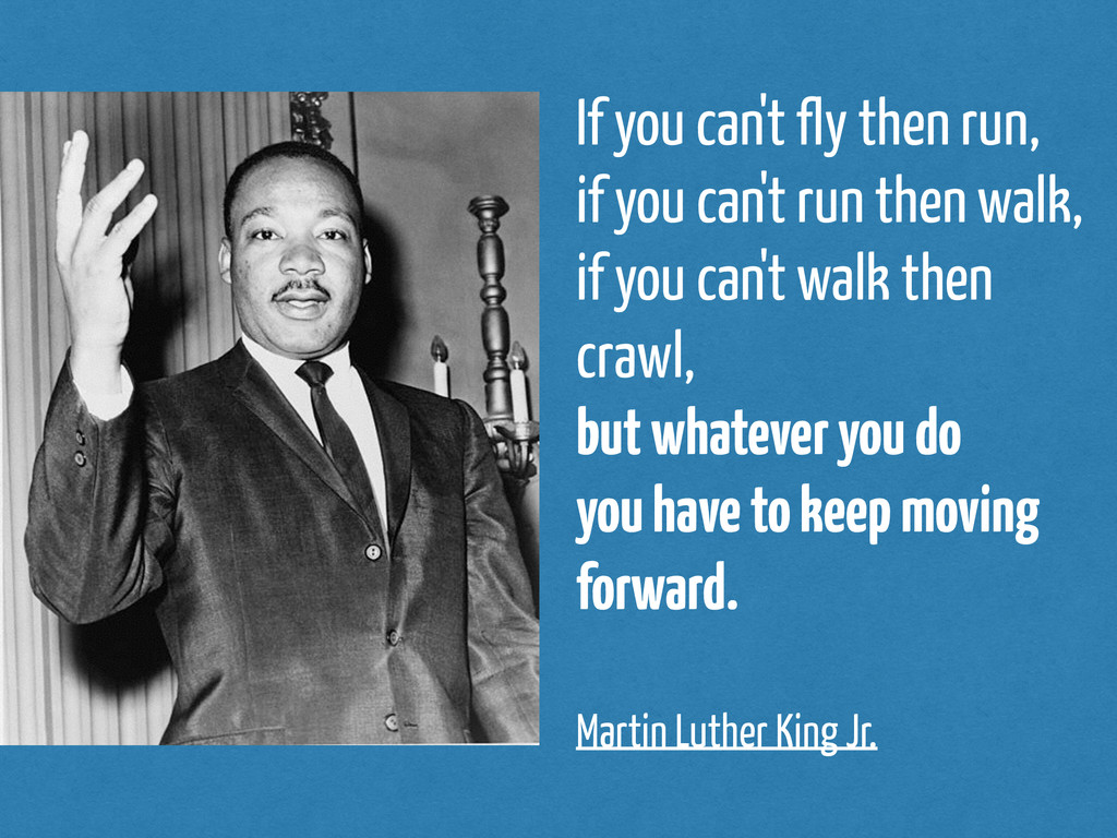If you can't fly then run, if you can't run the...