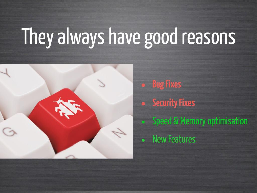 • Bug Fixes • Security Fixes • Speed & Memory o...