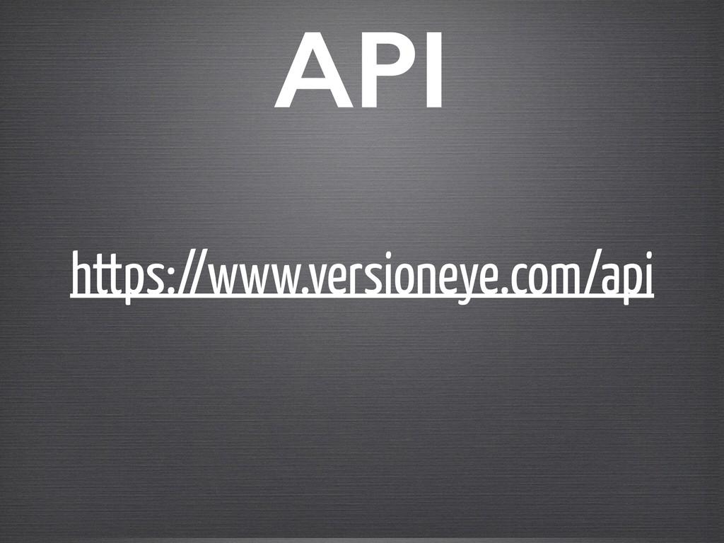 https://www.versioneye.com/api API