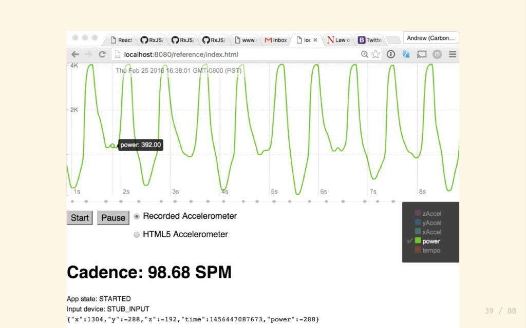 Normalize the Accelerometer data let motionData...
