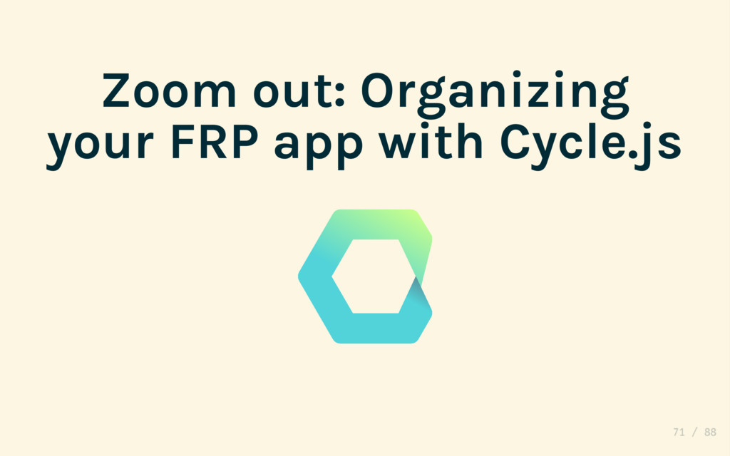 Zoom out: Organizing your FRP app with Cycle.js