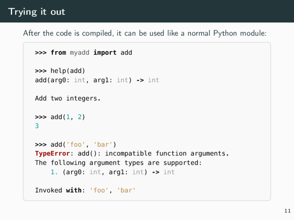 Trying it out After the code is compiled, it ca...