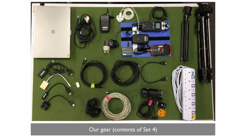 Our gear (contents of Set 4)