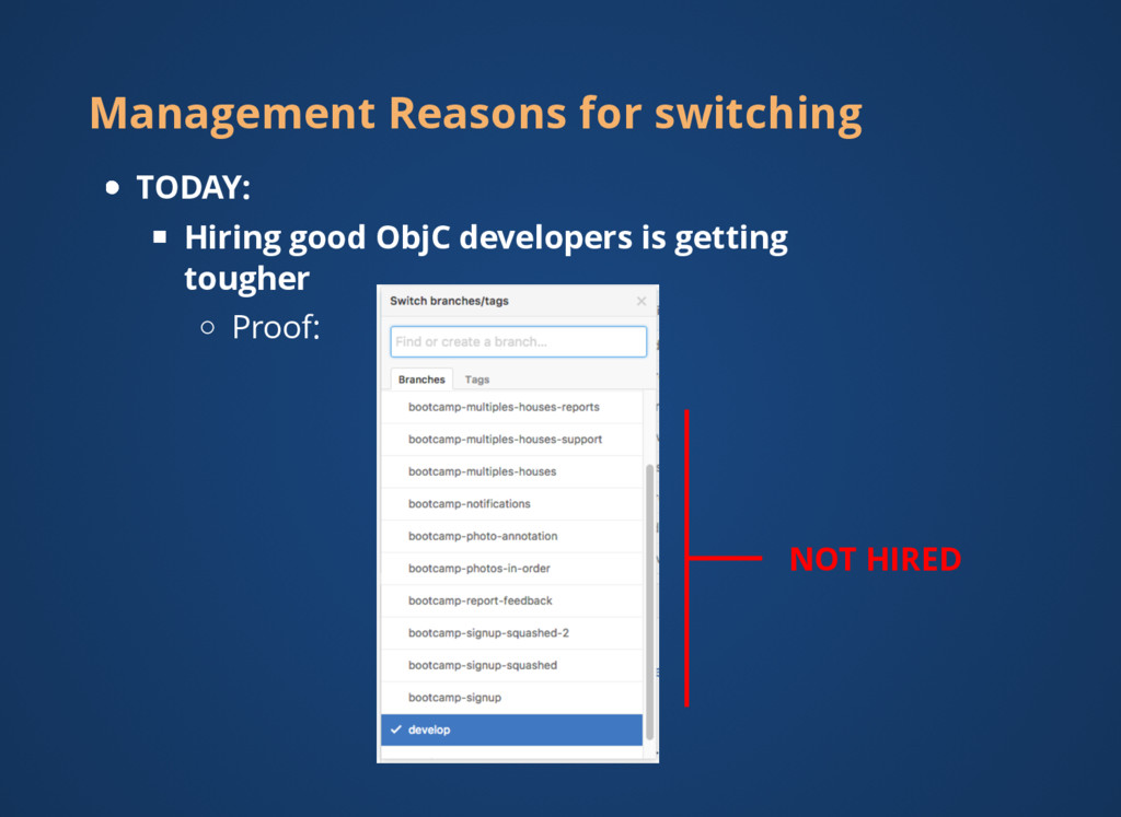 Management Reasons for switching TODAY: Hiring ...