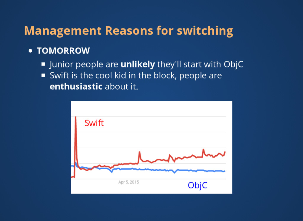 Management Reasons for switching TOMORROW Junio...