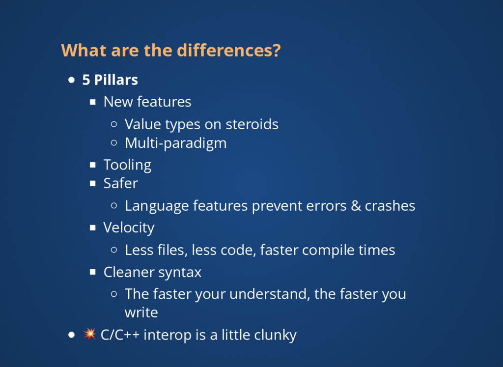 What are the differences? 5 Pillars New features...