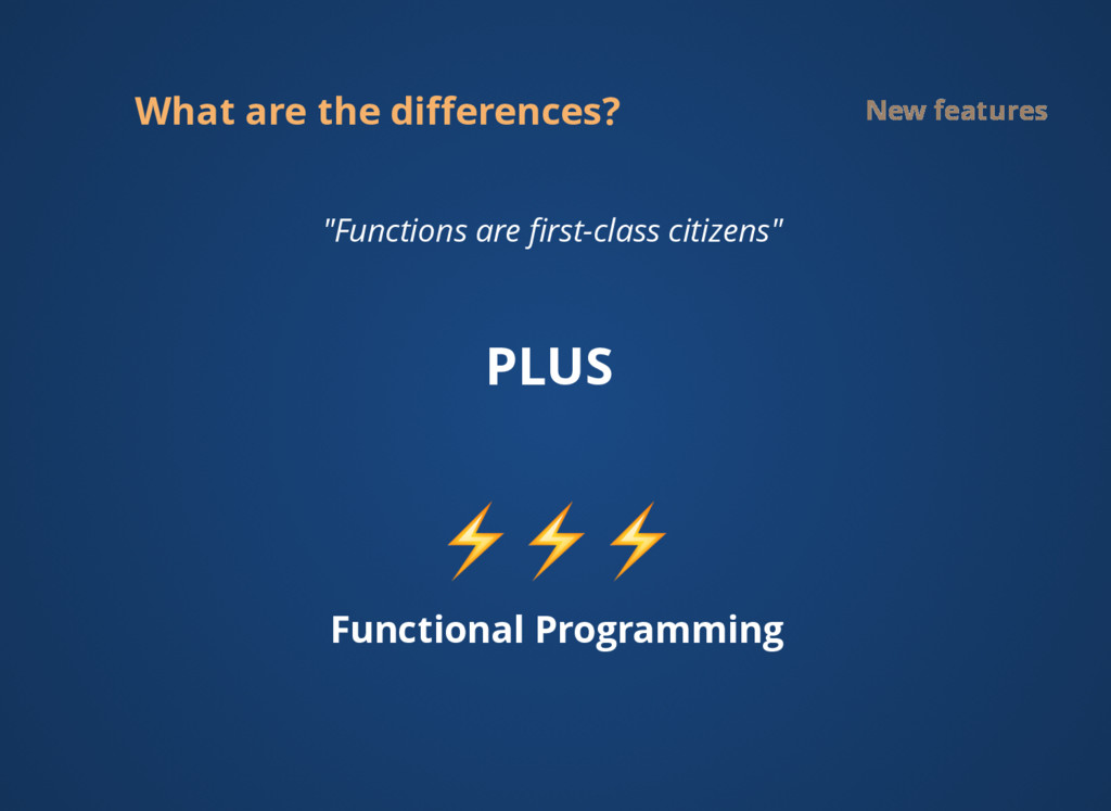"""What are the differences? New features """"Function..."""