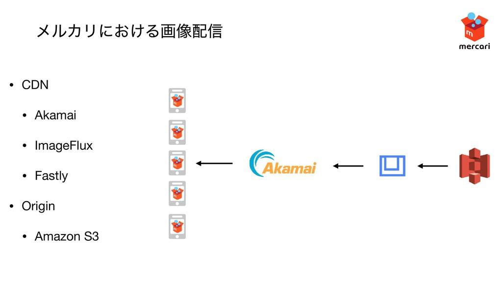 ϝϧΧϦʹ͓͚Δը૾৴ • CDN  • Akamai  • ImageFlux  • Fa...