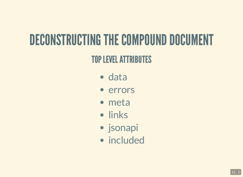 DECONSTRUCTING THE COMPOUND DOCUMENT TOP LEVEL ...