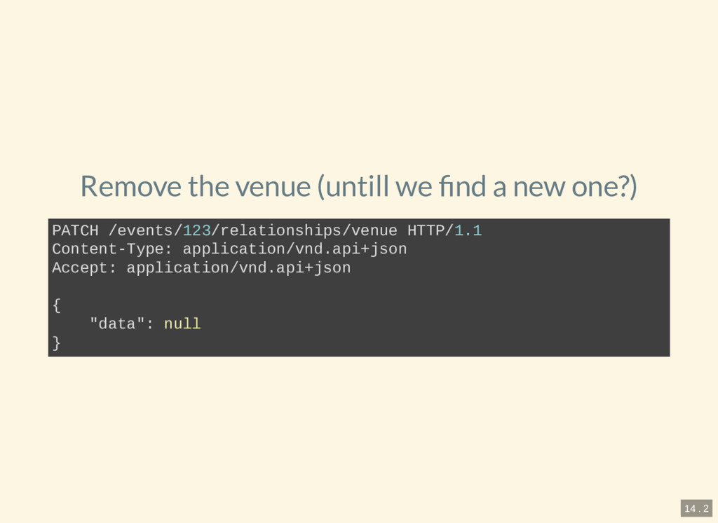 Remove the venue (untill we nd a new one?) PATC...