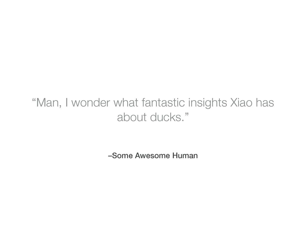 "–Some Awesome Human ""Man, I wonder what fantast..."