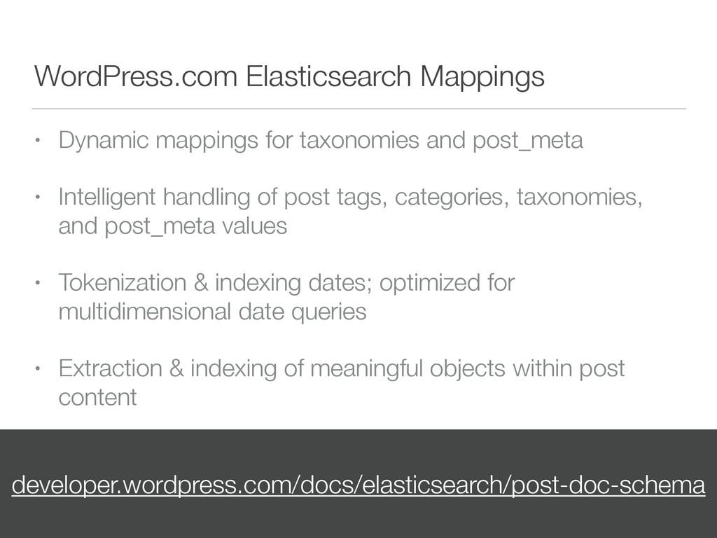 WordPress.com Elasticsearch Mappings • Dynamic ...