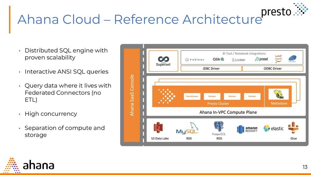 Ahana Cloud – Reference Architecture • Distribu...