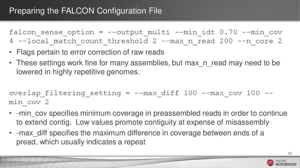 Preparing the FALCON Configuration File falcon_...