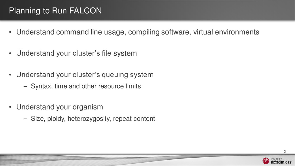 Planning to Run FALCON • Understand command lin...