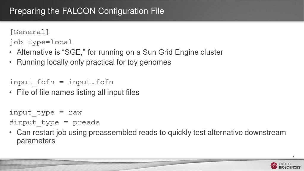 Preparing the FALCON Configuration File [Genera...