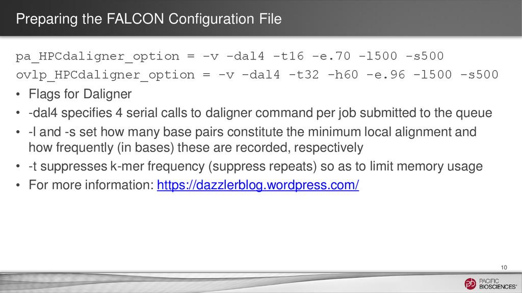 Preparing the FALCON Configuration File pa_HPCd...