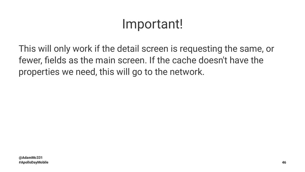 Important! This will only work if the detail sc...