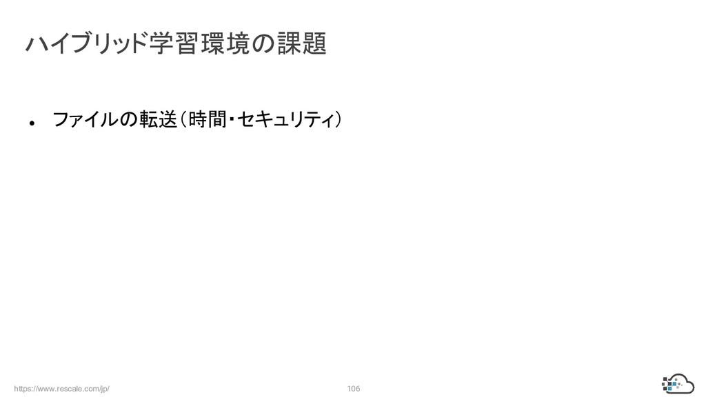 https://www.rescale.com/jp/ 106 ● ファイルの転送(時間・セキ...