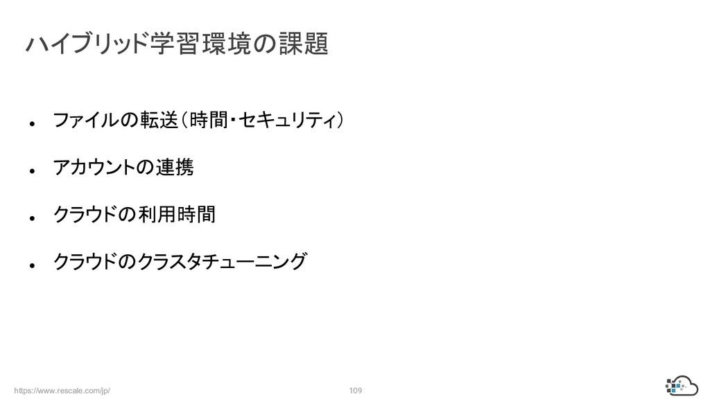 https://www.rescale.com/jp/ 109 ● ファイルの転送(時間・セキ...