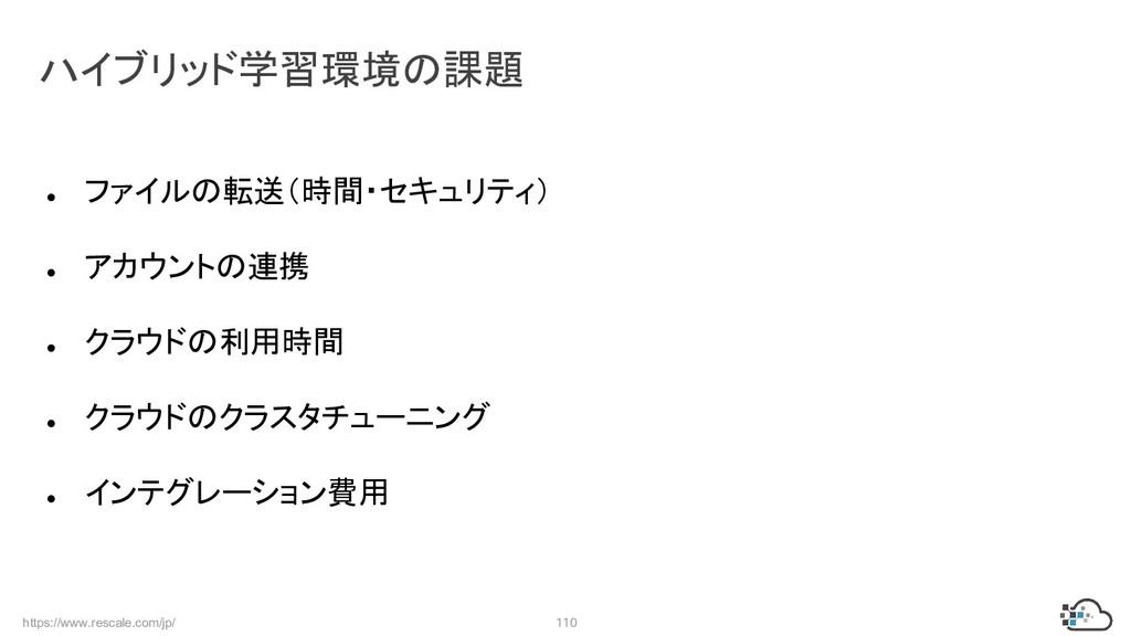 https://www.rescale.com/jp/ 110 ● ファイルの転送(時間・セキ...