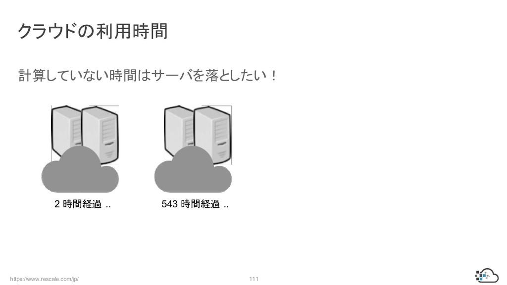 https://www.rescale.com/jp/ 111 クラウドの利用時間 計算してい...