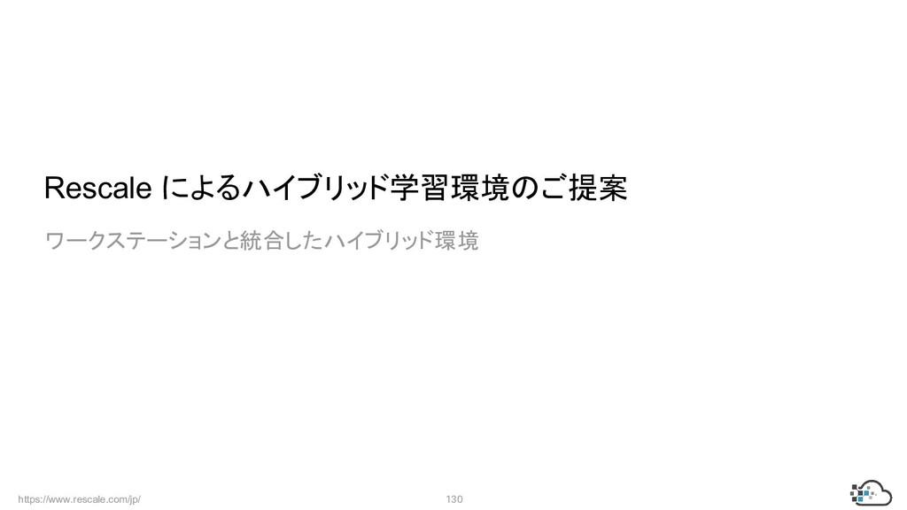 https://www.rescale.com/jp/ 130  Rescale によるハイブ...