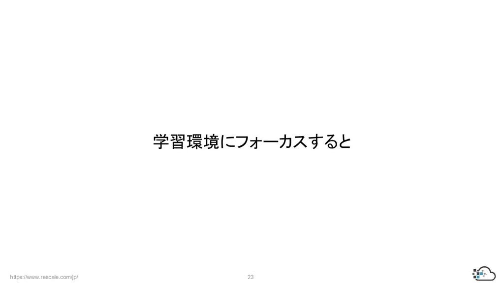 https://www.rescale.com/jp/ 23 学習環境にフォーカスすると