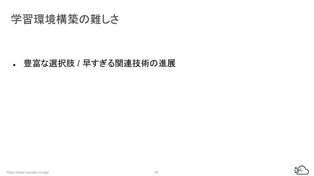 https://www.rescale.com/jp/ 24 ● 豊富な選択肢 / 早すぎる関...