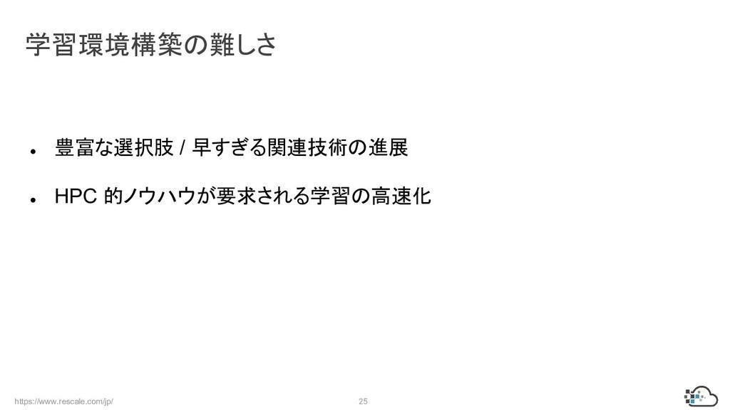 https://www.rescale.com/jp/ 25 ● 豊富な選択肢 / 早すぎる関...
