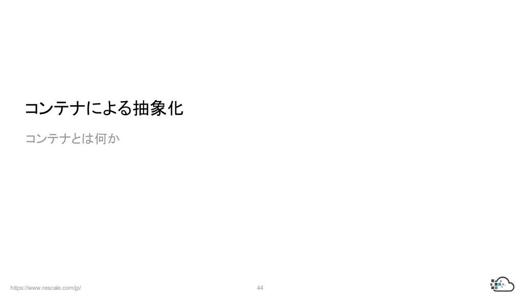 https://www.rescale.com/jp/ 44  コンテナによる抽象化  コンテ...