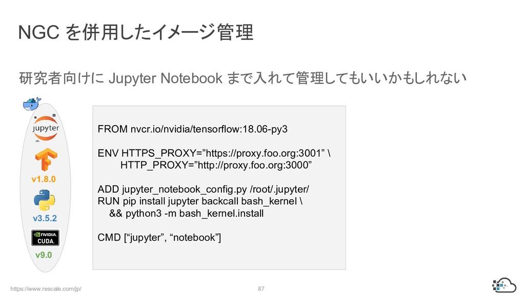 https://www.rescale.com/jp/ 87 研究者向けに Jupyter N...