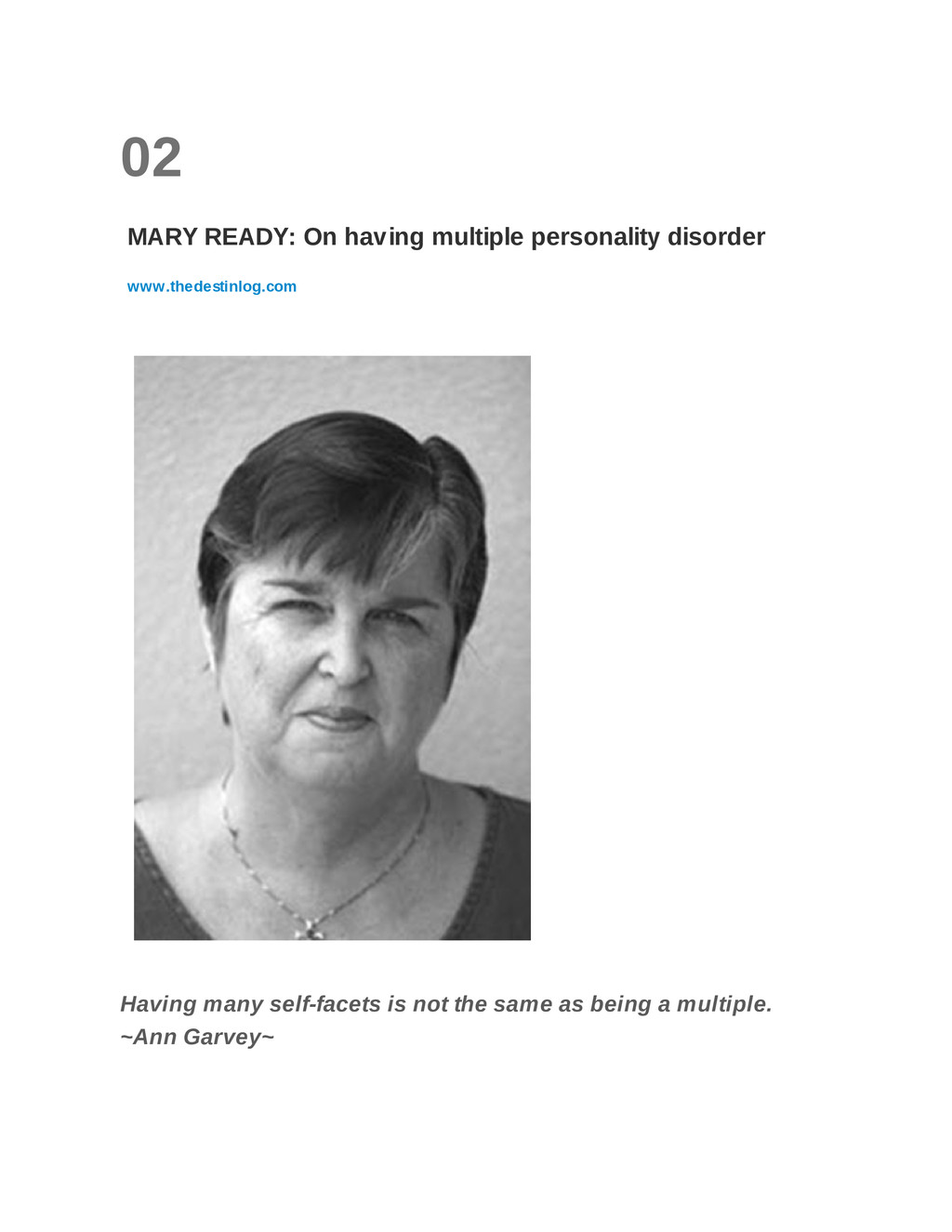 02 MARY READY: On having multiple personality d...