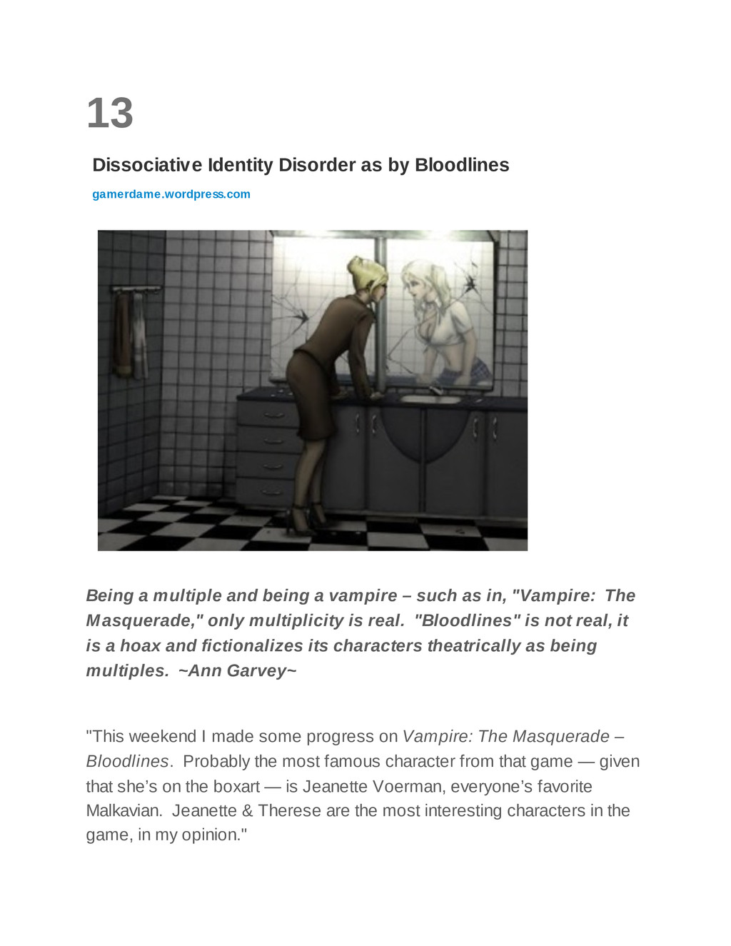 13 Dissociative Identity Disorder as by Bloodli...