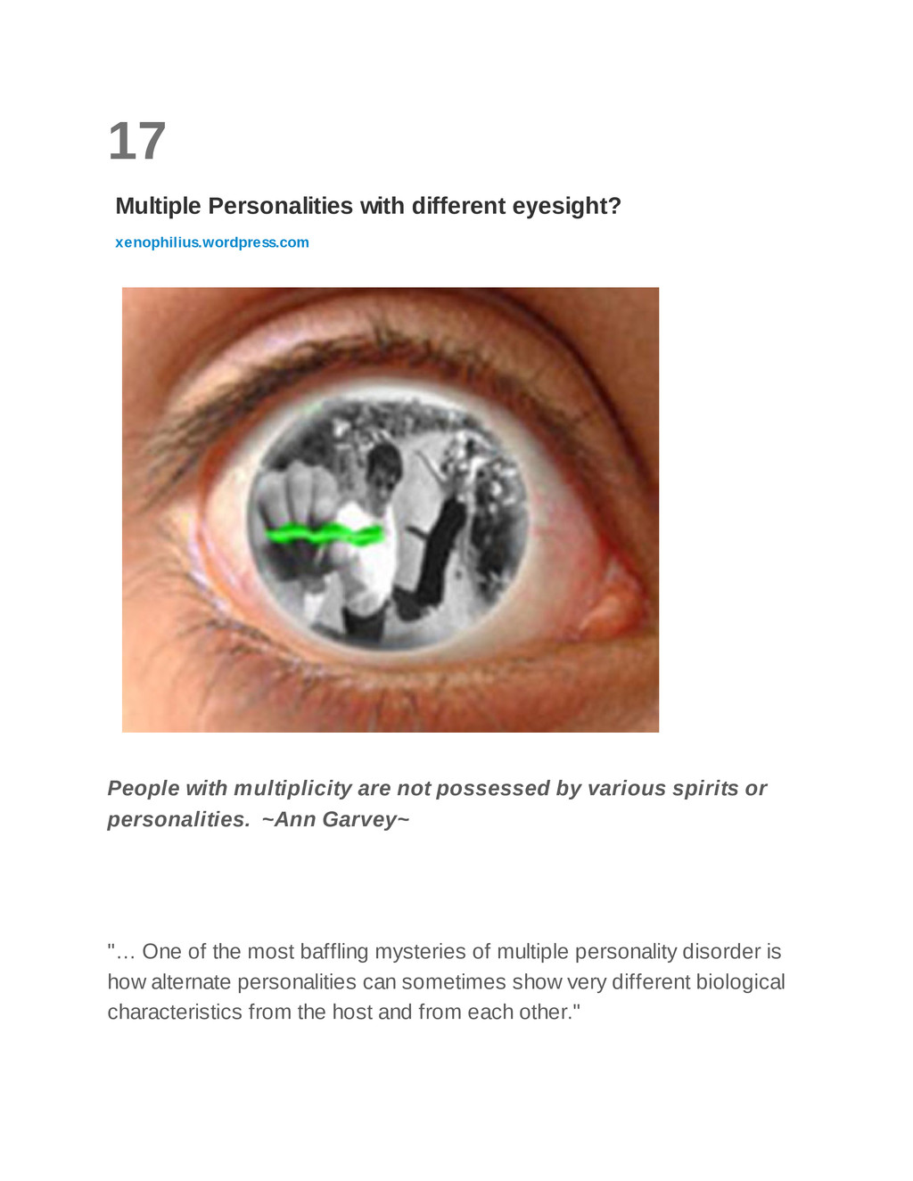 17 Multiple Personalities with different eyesig...