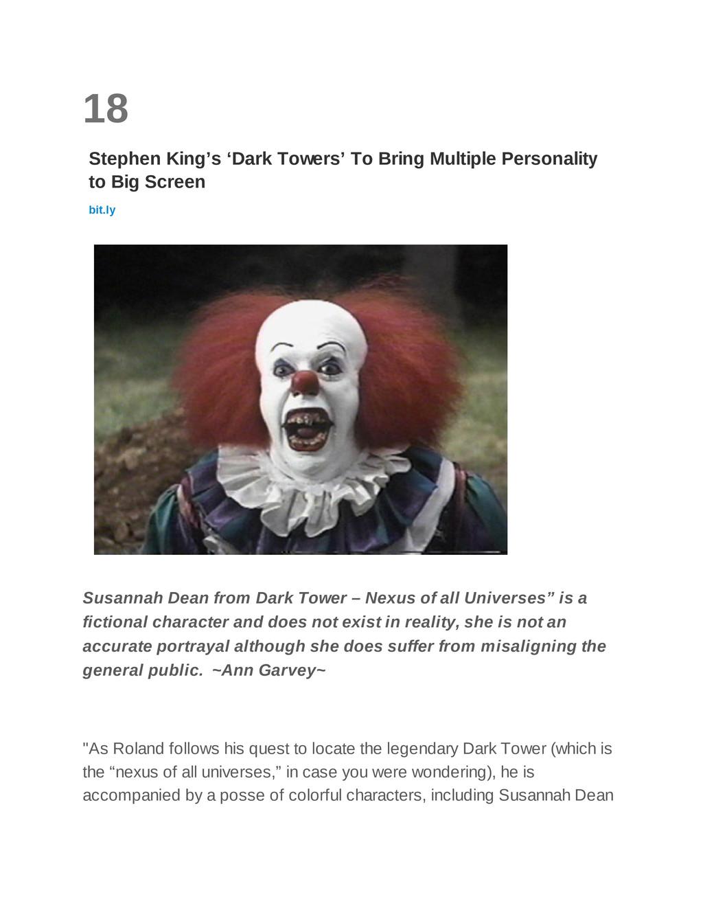 18 Stephen King's 'Dark Towers' To Bring Multip...