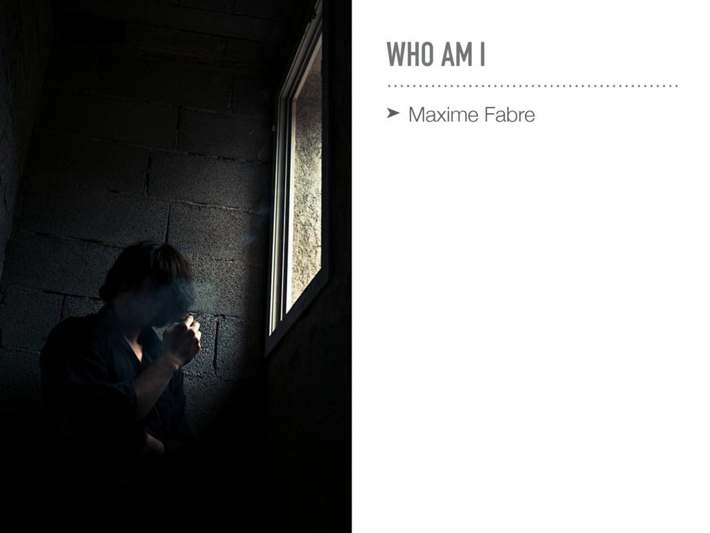 WHO AM I ➤ Maxime Fabre