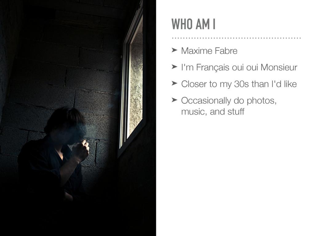 WHO AM I ➤ Maxime Fabre ➤ I'm Français oui oui ...