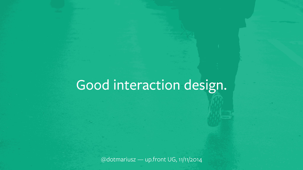 Good interaction design. @dotmariusz — up.front...