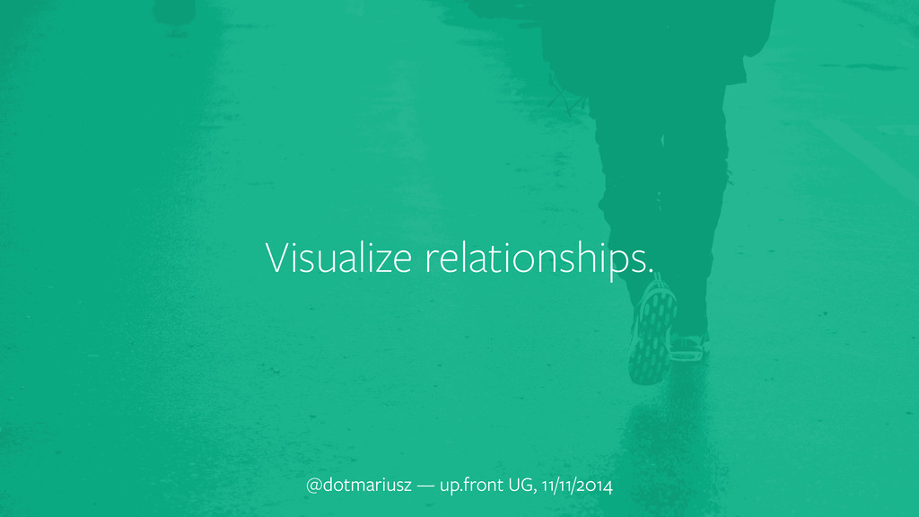 Visualize relationships. @dotmariusz — up.front...